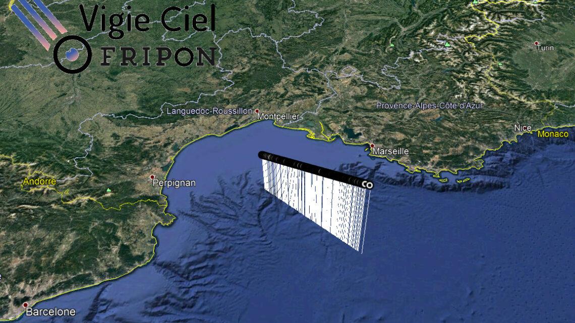 Bolide au dessus de la Méditerranée du 24 avril, 22h26