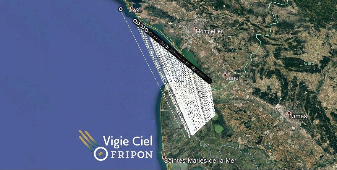Bolide au dessus du Gard le 17 juin à 22h25m UTC